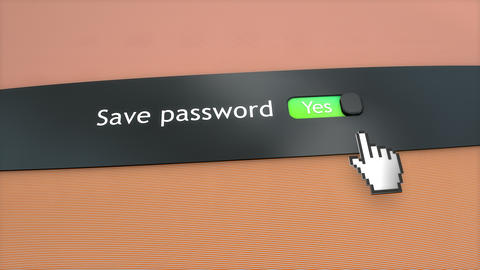 Application setting Save password Animation