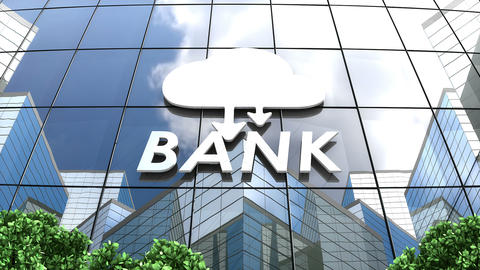 Cloud banking concept animation Stock Video Footage
