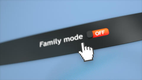 Application setting Family mode Stock Video Footage