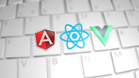 Editorial Angular React Vue JavaScript, Stock Animation