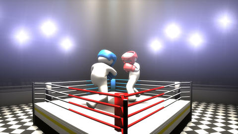 Boxing match concept animation Animation