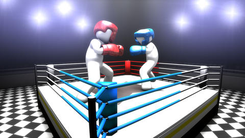 Boxing match concept animation Footage