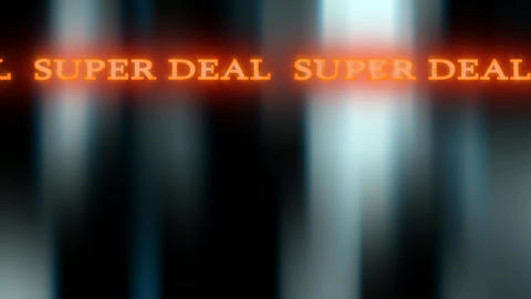 04 Dark blue background with amimated text Super deal Stock Video Footage