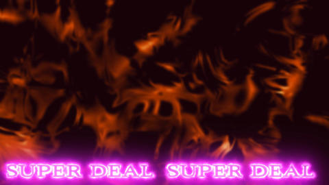 03 Abstract background with animated text SUPER DEAL suitable for selling Animation