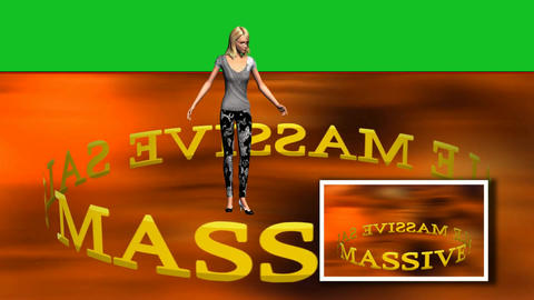 10 cartoon model on background text and green background Animation
