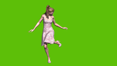 15 animated model on green background present something for sell Animation