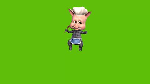 19 animated cartoon piggy cook presen own food Animation