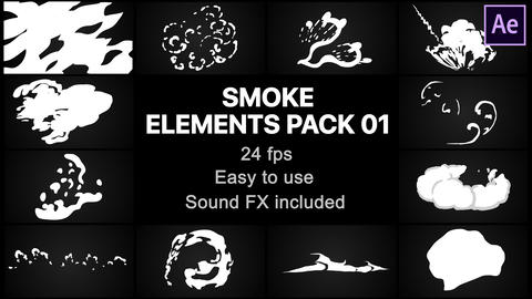 Smoke Elements Pack 01 After Effects Template