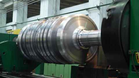 Manufacturing power electric rotor turbine for generator Footage