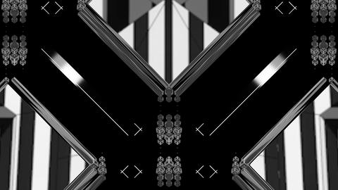 Black and White Strobo VJ Show Animation