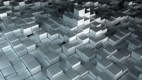 Many cubes, computer generated modern abstract background GIF