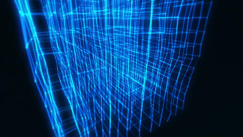 3D Blue Abstract Cube Animation VJ Loop Motion Intro Background CG動画素材