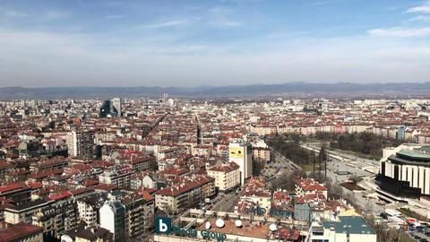 Aerial panorama over Sofia Footage