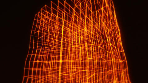 3D Orange Abstract Cube Animation VJ Loop Motion Intro Background Animation