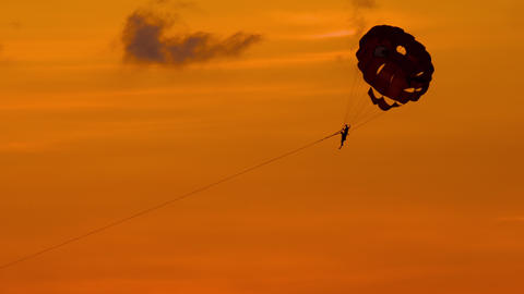 Parasailing extreme sport Archivo