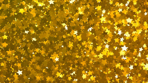 Glitter Star Frame 3 As Gold 4k Animation