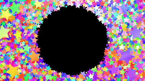 Glitter Star Frame 3 Cs Colorful 4k Animation