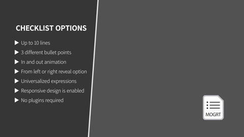 Sidebar Checkbox List With Bullet Points Motion Graphics Template