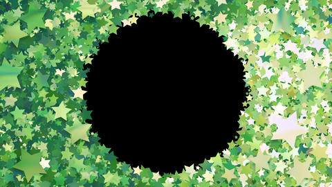 Glitter Star Frame 3 Cs Green 4k Animation