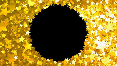 Glitter Star Frame 3 Cs Gold 4k Animation