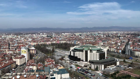 Aerial view of the National Palace of Culture building in Sofia Archivo