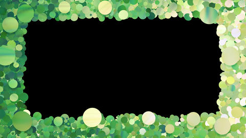 Glitter Circle Frame 3 Bc Green 4k Animation