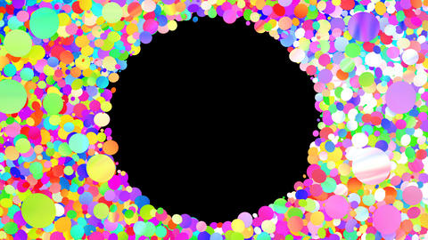 Glitter Circle Frame 3 Cc Colorful 4k Animation