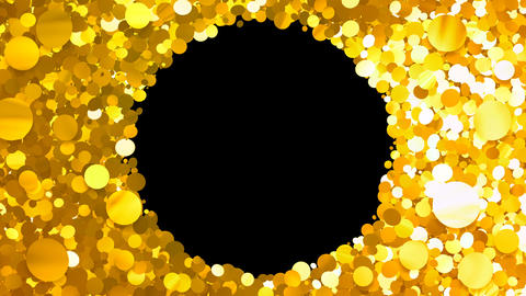 Glitter Circle Frame 3 Cc Gold 4k Animation