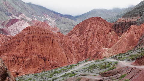 Colors in mountain of Jujuy 3 Footage