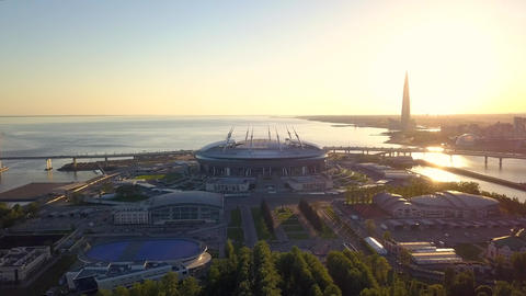 Aerial view of the Saint Petersburg stadium Zenit Arena Archivo