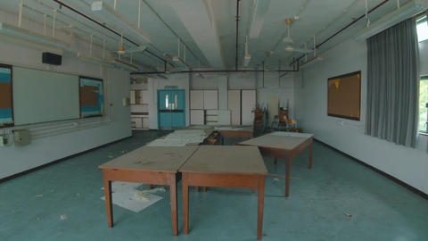 Abandoned School - Destroyed Classroom 04 Footage