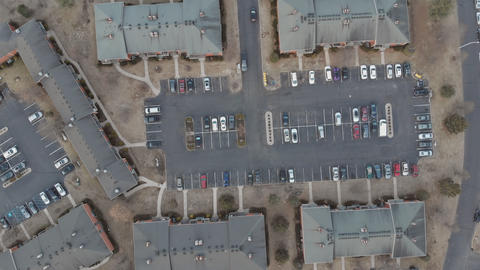 Suburban residential neighborhood houses district aerial view Live Action