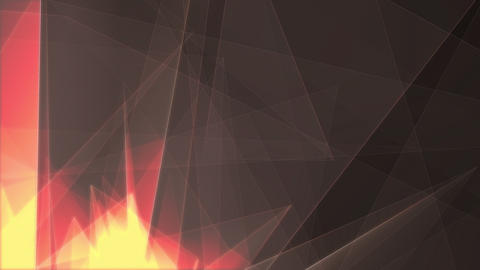 Yellow and Transparent Triangles Rotating Animation
