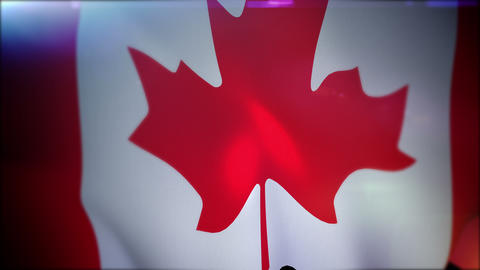 Fluttering Canadian Flag in Slo-mo Videos animados