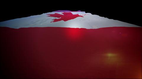 Slanted Canadian Flag in Slow Motion Animation
