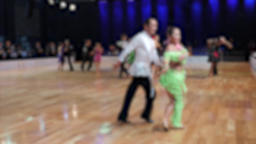 Ballroom dancing. Anonymous defocused people dancing latin dances Live Action