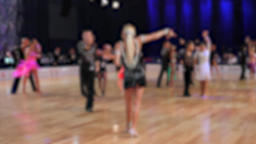 Anonymous defocused people are dancing latin dances Footage