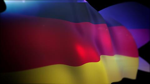Energetic German Flag in Black Backdrop Animation