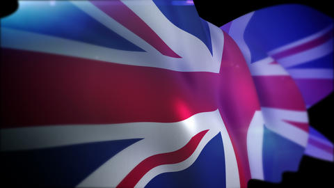 Flapping British Flag in Slow Motion CG動画