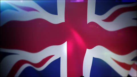 Fluttering British Banner in Slow Motion Animation