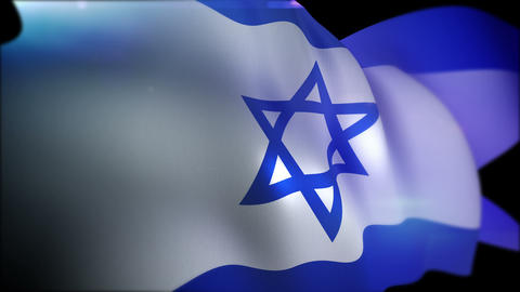 Cheerily Fluttering Banner of Israel Animation