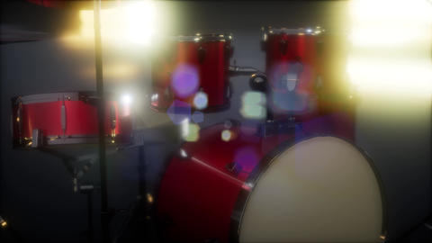 drum set with DOF and lense flair Footage