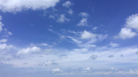Cloudscape in time lapse at daily azure windy skyline Live Action