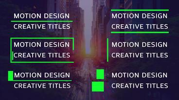 6 Creative Titles モーショングラフィックステンプレート