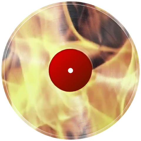 disc on fire graphics Archivo