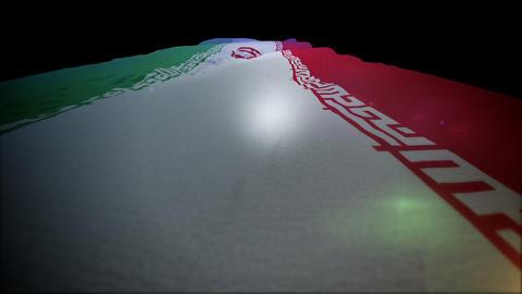 Waving Standard of Iran Rising Up Animation