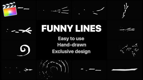 Flash FX Funny Lines Apple Motion Template