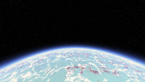 3D render of planet from space GIF