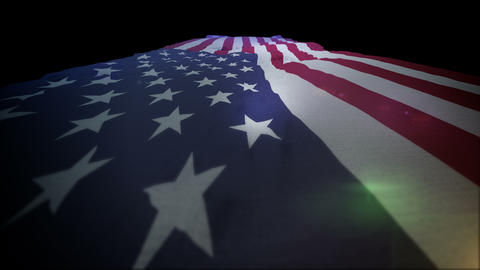 American Flag Moving Up in Slo-Mo Animation