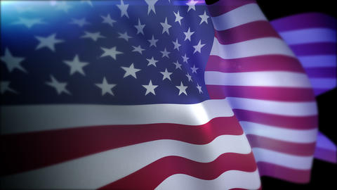 Optimistically Fluttering Flag of the USA Animation